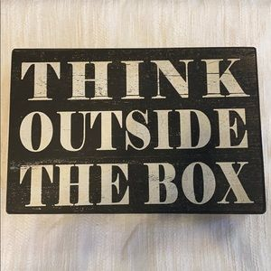 •RAZ• THINK OUTSIDE THE BOX Sign, Like New